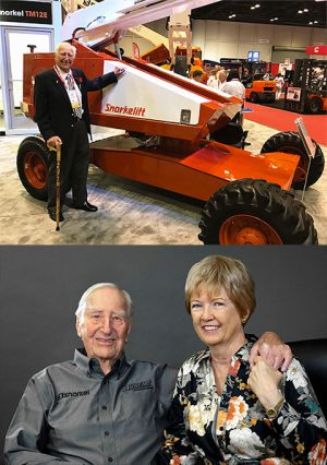 Art Moore, the founder of Snorkel and his loving wife, Sue